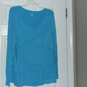 Lane Bryant Turquoise Long Sleeve Top Size 18/20